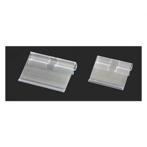 PVC透明T型雙掛勾標架卡